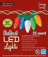 LED C9 Style Multicolor Lights- 25ct