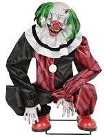 Crouching Clown Red Animated Prop