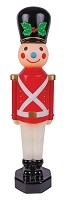 Vintage Look Toy Soldier 42 Inch Decoration- Red
