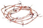 97.5 Foot Rusted Barbed Wire