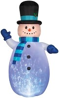 Airblown 12ft Snowman Inflatable With Lights