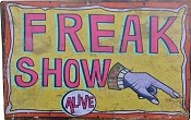 Freak Show Metal Carnival Sign