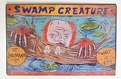 Swamp Creature Metal Carnival Sign