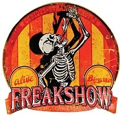 Large Freak Show Metal Carnival Sign