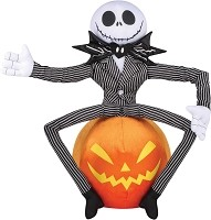 Greeter Prop Jack On Pumpkin- Nightmare Before Christmas