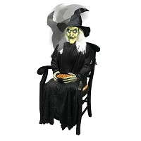 Sitting Witch Animated Prop