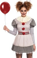 Creepy Clown Adult Costume- IT