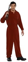 Boiler Suit Adult Red Costume