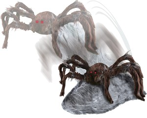 Jumping Spider Animated Prop- Brown