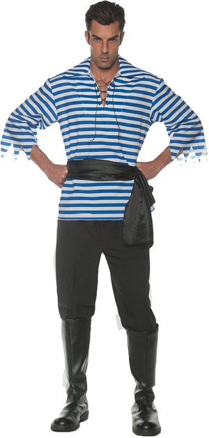 Pirate Adult Costume Set-Blue